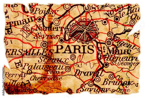 Paris old map - 25116636