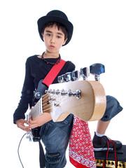 child playing ballads