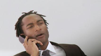 Smart Businessman on his phone