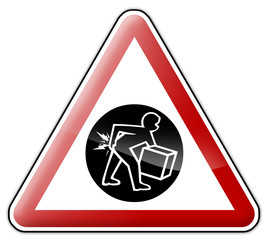 "Warning Sign ""Danger - Lifting & Back Belts"""