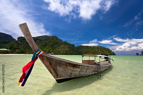 Thai boat in the tropical sea. Thailand