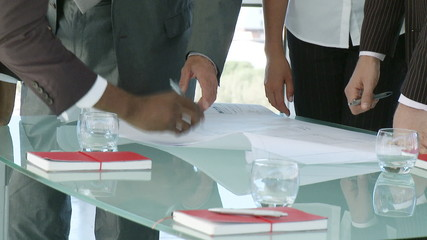 close-up of a business team discussing
