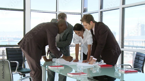 Business team discussing a business project