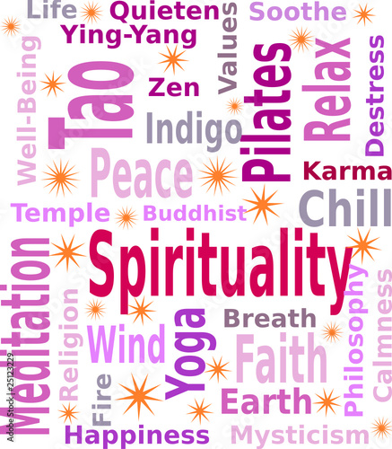 Spiritual Tag or Word cloud