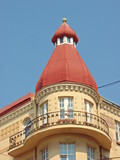 Decorative turret with balcony poster