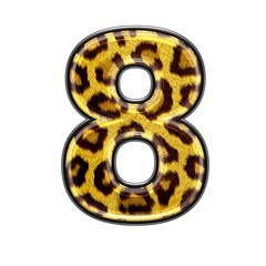 3d digit with panther skin texture - 8