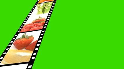 collage of fruits footage against a green screen