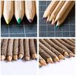 composition crayons de couleur et ardoise