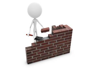 Mr. Emotion V54.1b Build Brick Wall white