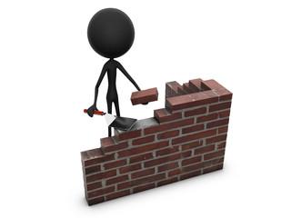 Mr. Emotion V54.1a Build Brick Wall black