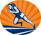 marathon runner sprinter racing poster