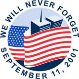Fototapety 9/11 9-11 911memorial american flag twin towers