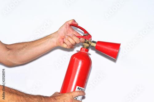 Extintor preparado