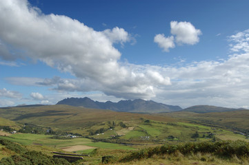 Cuillins and Carbostmore with big cloud