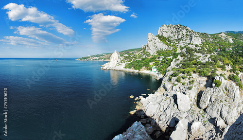 Crimea, the Black Sea coast, town Simeiz