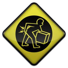 """Warning Sign """"Danger - Lifting & Back Belts"""""""