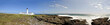 Stitched Panorama Langness Peninsula with Lighthouse