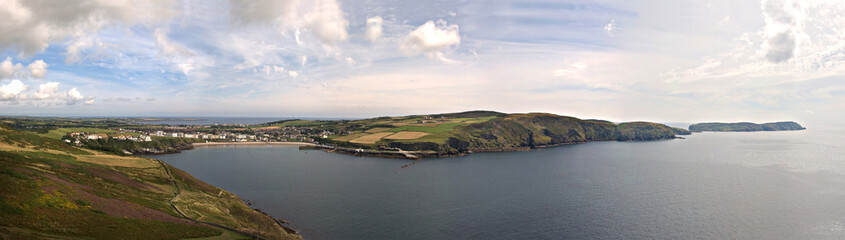 Stitched Panorama Port Erin Bay Isle of Man
