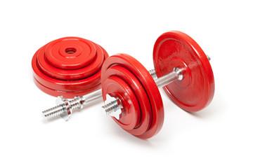 Body building - steel dumbbells
