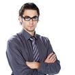 homme caucasien / européen lunettes
