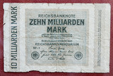Hyper inflation german marks poster