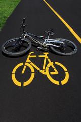 mountain bike e segnaletica orizzontale