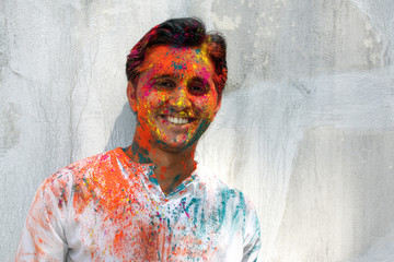 Man in Holi Colors