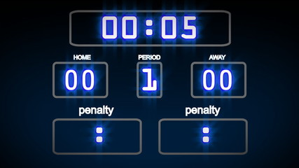 Sports Score Board with 10 seconds left