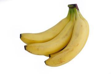 Бананы изолированные на белом фоне.