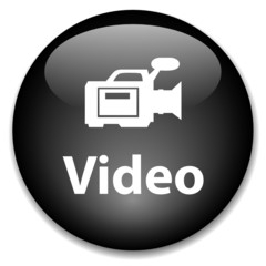 VIDEO Web Button (watch play camcorder view icon media player)