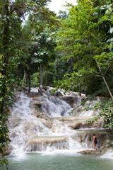 Woman On Dunn's Falls Jamaica