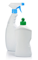 kitchen cleaning bottles