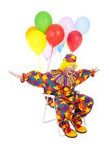 Flying Clown in Lawn Chair