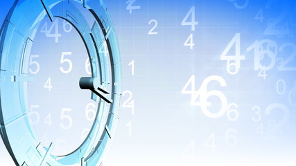 3D Clock showing time concept