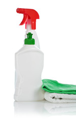 towel bottles and napkin