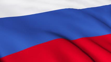 3D Russian flag