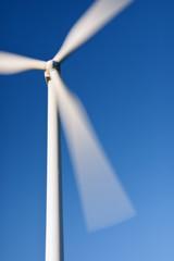 Éolienne en mouvement
