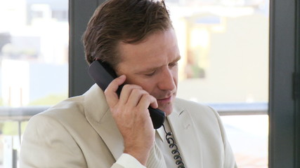 CEO talking on phone