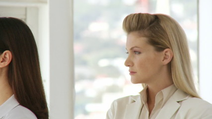 Two businesswomen optimistic about the future