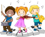 Fototapety Children Playing Musical Instruments