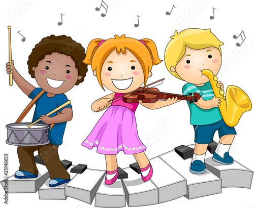 Children Playing Musical Instruments