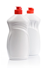 bottles with red lid