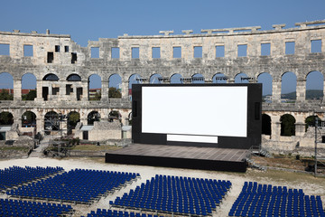 Open Air Cinema in the Arena of Pula, Croatia