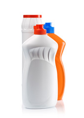 orange and white bottles