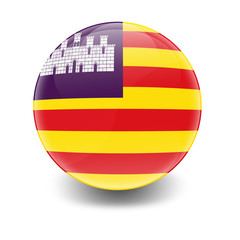 Esfera brillante con bandera Islas Baleares