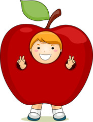Boy In An Apple Suit