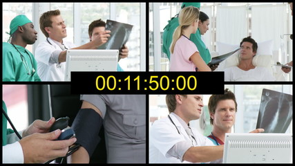 countdown with hospital life footages