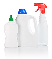 small and big bottle and spray