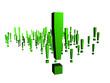 viele grüne Ausrufezeichen