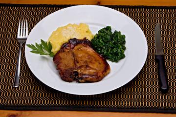 Caramelized Pork Chop Dinner